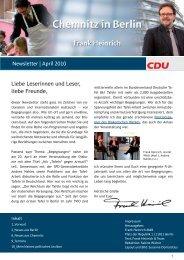 Newsletter | April 2010 Liebe Leserinnen und Leser ... - Frank Heinrich