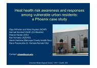 Heat health risk awareness and responses among vulnerable urban ...