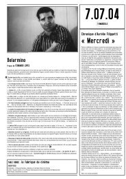 7 juillet 2004 - Festival international du documentaire de Marseille