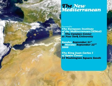 The New Mediterranean - Center for European and Mediterranean ...