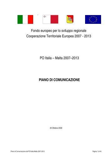View - PO Italia Malta 2007-2013