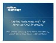 Flat-Top Flash Annealing for Advanced CMOS Processing