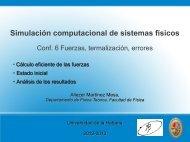 Conferencia 6 - Facultad de Física - Universidad de La Habana
