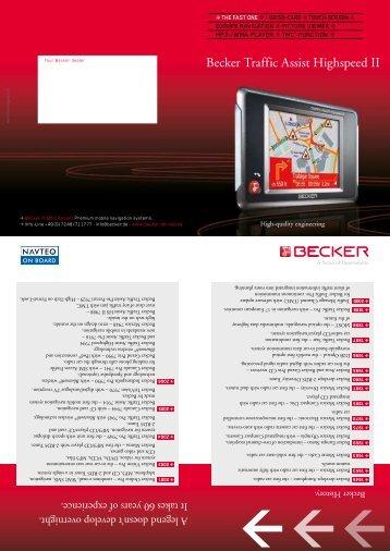 becker traffic assist highspeed 7934 driver