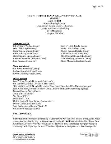 Page 1 of 17 STATE LAND USE PLANNING ADVISORY COUNCIL ...
