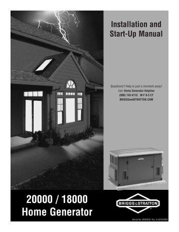 20000 / 18000 Home Generator - NoOutage.com, LLC