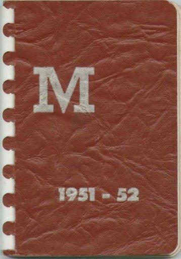 1951-1952 - Miami University