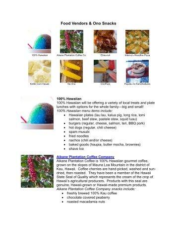 Food Vendors & Ono Snacks - Heco.com