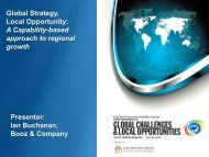 Global Strategy, Local Opportunity - Institute of Bankers Malaysia