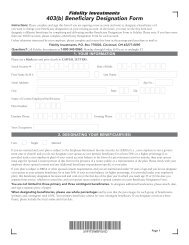 403(b) Beneficiary Designation Form