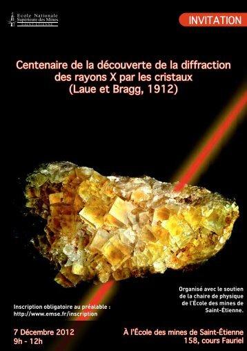 Centenaire de la découverte de la diffraction des rayons X par les ...