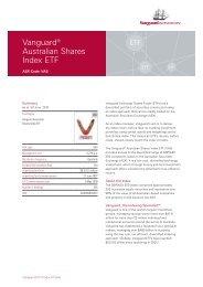 Vanguard® Australian Shares Index ETF