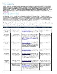 Water Use Efficiency Residential Rebate Programs - Golden State ...