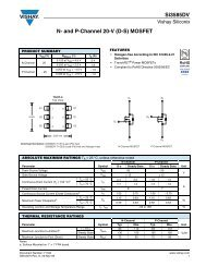 Si3585DV N- and P-Channel 20-V (D-S) MOSFET