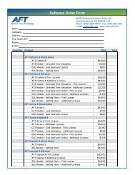 Software Order Form - Applied Flow Technology