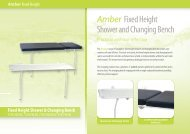 Fixed Height Shower & Changing Bench