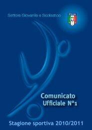 Comunicato Ufficiale N.1 2010/2011 - Federazione Italiana Giuoco ...
