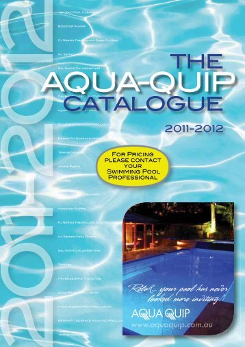 The catalogue catal - Aqua-Quip