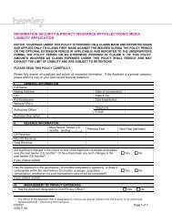 Cyber Liability Insurance Application