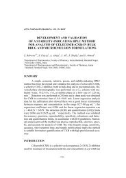 Development and validation of stability-indicating HPLC method for ...