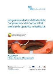 Allegato D - CF - Schema di accordo di finanziamento - Regione ...
