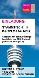 STAMMTISCH mit KARIN MAAG MdB - Familienunternehmen