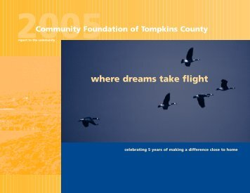 where dreams take flight - Community Foundation of Tompkins County