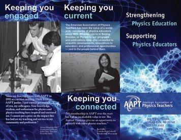Strengthening Physics Membership Brochure - American ...