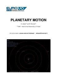 Planetary motion (Geocentric and heliocentric models ... - INAF-OAT