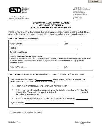 Physician Release Form  Sample Medical Consent Form  Printable