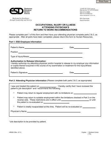Pre Designation Of Personal Physician Form