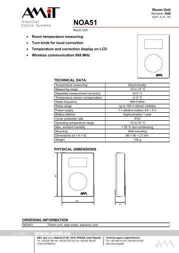 series 2200 temperature room units for tec and atec