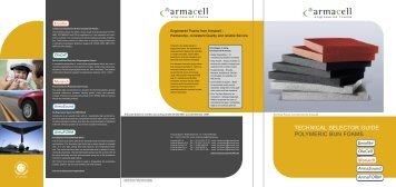 Product Selector Polymeric Bun Foams - MONARCH New! - Armacell