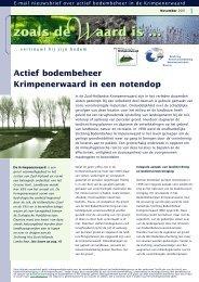 Actief bodembeheer Krimpenerwaard in een notendop - SBK ...