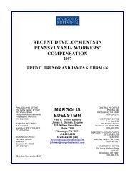 Workers Compensation Newsletter - November 2007 - Margolis ...