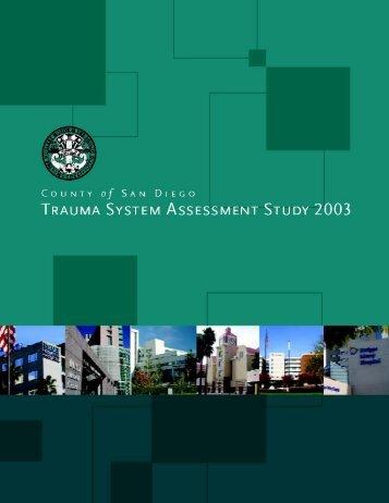 San Diego County Trauma System Assessment Study by Abaris ...