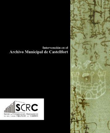 Intervención en el Archivo Municipal de Castellfort - Diputación de ...