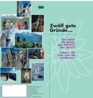 Zwölf gute Gründe... - Alpenverein Bayreuth