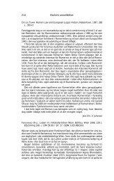 214 Kortere anmeldelser - Historisk Tidsskrift