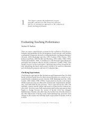 Evaluating Teaching Performance