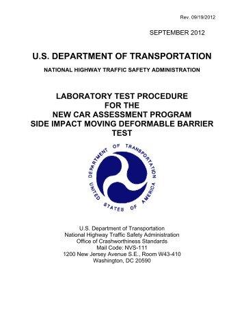 U.S. DEPARTMENT OF TRANSPORTATION - SaferCar.gov