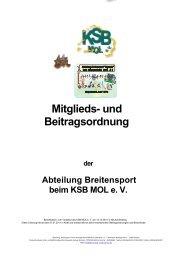 Mitglieds- und - Kreissportbund Märkisch Oderland