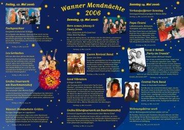 Flyer Wanner Mondnächte 2006