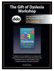 Gift of Dyslexia Workshop Brochure.
