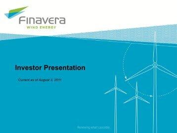 Investor Presentation - Finavera