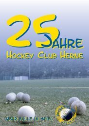 Festschrift 25 Jahre HCH - Hockey-Club Herne e.V.