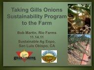 Taking Gills Onions Sustainability Program to the Farm