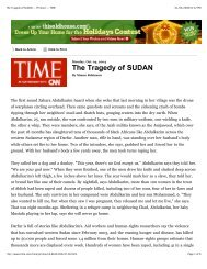 The Tragedy of SUDAN -- Printout -- TIME
