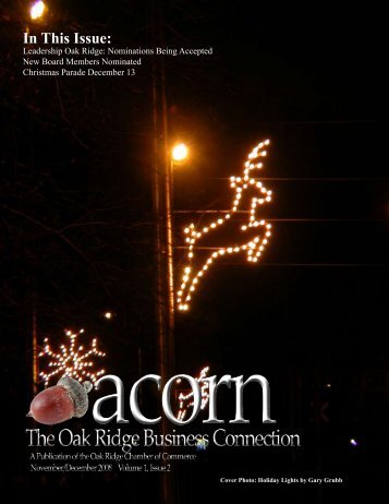 In This Issue: - Oak Ridge Chamber of Commerce