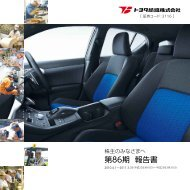 第86期 報告書 (PDF:1202KB) - Toyota Boshoku Corporation